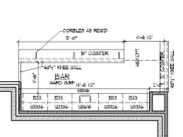 plans design home bar plans design blueprints drawings back bar counter section