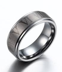 can titanium rings be engraved brushed numerals engraved tungsten rings by tungstenrepublic