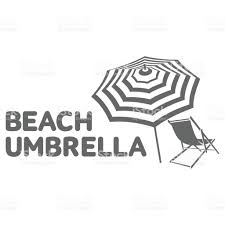 Beach Umbrella And Chair Logo Template With Beach Umbrella And Sun Bathing Lounge Chair