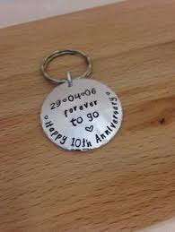 10 year anniversary gifts for men 10th wedding anniversary gift personalized keychain 10 years