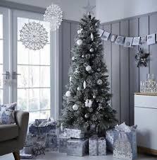 tesco luxury 6 5ft alpine snow artificial tree green a