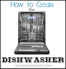 cleaning a dishwasher how to clean the dishwasher