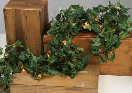 Garland With Lights 6 Artificial Chain Garland With 35ct Clear Lights