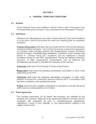 construction rfp template doc doc