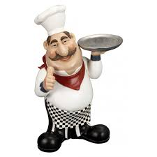 statues for home decor chef figurine kitchen decoration jolly cook statue for restaurant