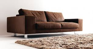 Leather Two Seater Sofas Two Seater Sofa Upholstered In Leather Or Cloth Big Square Bosal
