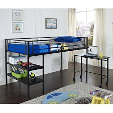 Metal Bunk Bed With Desk Twin Metal Loft Bed With Desk Black Walmart Canada