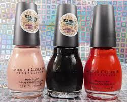 the weekend i went crazy buying sinful colors nail polishes be
