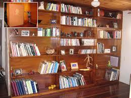 Bookshelves Wooden Alluring Brown Varnished Wooden Open Wall Bookshelves Small Secret