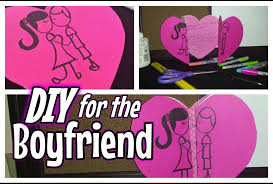 diy valentine u0027s card for the boyfriend girlfriend youtube