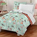 Outdoor Themed Bedding Amazon Com 2 Piece Girls Pink Grey Owl Theme Comforter Twin