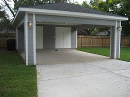 Attached Carport Ideas Carport With Storage Door To Kitchen And Storage On Sides With No