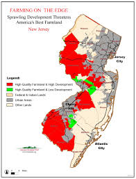 New Jersey Map American Farmland Trust Resources Farming On The Edge Report