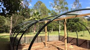 green house garden structure over veggie patch low cost diy