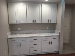 kitchen white shaker cabinets u0026 quartz countertop in los alamitos