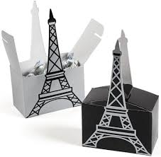 Eiffel Tower Decorations Paris 5 U0026 34 Eiffel Tower Favor Boxes 6 Pack Party Supplies