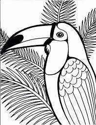 parrot coloring pages free for kids with parrot coloring pages on
