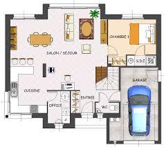 plan de maison en l avec 4 chambres plan de maison contemporaine 4 chambres avec garage plans maisons