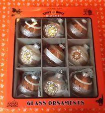 radko shiny brite glitter indents ornaments 12