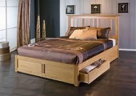 incredible bianca oak storage kingsize bed frame wooden pine beds