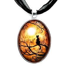 black cat pendant necklace images Laura milnor iverson black cat pendant halloween jpg