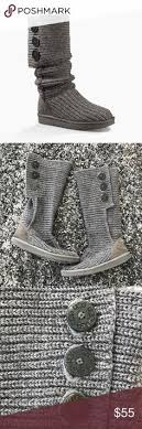 s cardy ugg boots grey ugg cardy knit boots in grey ugg boot