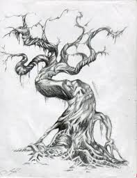 twisted tree drawing search scenery landscapes