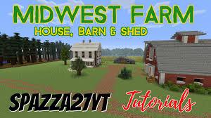 midwest farm house barn u0026 shed minecraft tutorial youtube