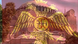 Byzantine Empire Flag βασιλεία ῥωμαίων Eastern Roman Byzantine Empire Tribute Flag