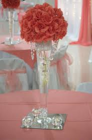 quinceanera table decorations centerpieces sweet wedding centerpieces with coral flowers ipunya