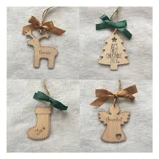 Personalised Christmas Angel Decorations by Personalised Christmas Decoration Tree Angel Reindeer