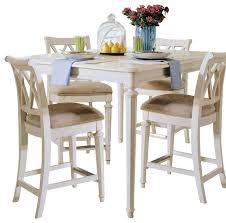 american drew camden light 5 piece dining room set white