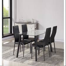 ensemble table chaises solis ensemble table à manger 4 personnes 120x70 cm 4 chaises en