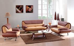 Small Leather Sofa Decoration Ideas Amazing Beige Leather Sofa And Dark Cherry Wood