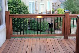 deck lighting using low under railing led lights traditional