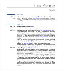 Dot Net Resume Sample by Android Developer Resume Template U2013 10 Free Word Excel Pdf