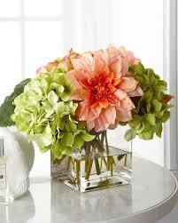 faux floral arrangements richard collection pale pink green faux floral arrangement