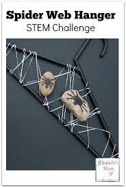 stem challenge spider web hanger with free printable task cards