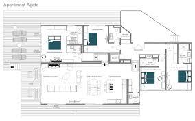 Cote D Azur Floor Plan by Catered Ski Chalet Verbier Apartment Agate Leo Trippi