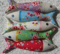 handmade traditional portuguese sardines in bright floral fabrics