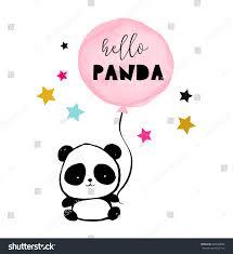 cute panda bear illustration simple style stock vector 560520826