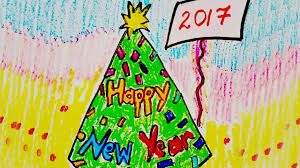 happy new year card new year greeting card design draw happy new year card how to