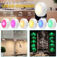 battery operated led lights for kitchen cabinets wireless color changing led puck light with remote controls led cabinet battery powered stick on lights