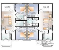 Multi Family House Plans Duplex Multi Family Plan W3049 V1 Detail From Drummondhouseplans Com