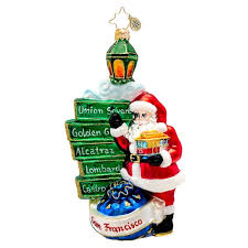 christopher radko ornaments 2014 radko san francisco ornament
