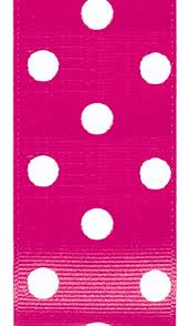 pink polka dot ribbon offray polka dot grosgrain craft ribbon 1 1 2 inch