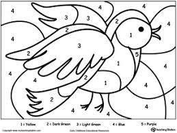 bird coloring pages for toddlers color by number coloring pages for kindergarten color by number bird