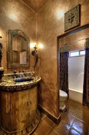 tuscan bathroom design with faux wall paint inviting tuscan