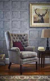 Traditional Arm Chair Design Ideas Traditional Living Rooms Harris Tweed Wingback Armchair Home