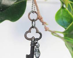 long chain key necklace images Antique key necklace etsy jpg